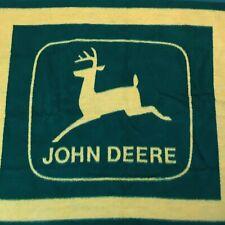 "Vintage John Deere Aurora Biederlack 54"" x 48"" Blanket USA Made"