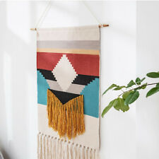 Macrame Woven Wall Hanging Tapestry Hemp Rope Art Tassel Home Decoration Display