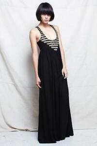 SASS & BIDE   'High Roller'   Embellished Silk Maxi Dress -- Size 8-10 - $850