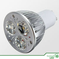 Bombilla LED GU10 3*3W High Power Blanco Cálido AC 220V - Únicamente 9W.