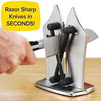 Official As Seen On TV Bavarian Edge Kitchen Knife Sharpener by BulbHead,