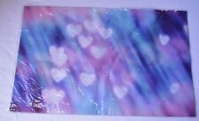 Pink/Purple w/White Floating Hearts Mat
