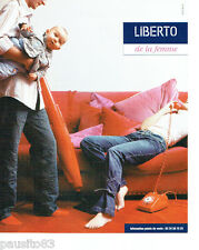 PUBLICITE ADVERTISING 056  2004   Liberto  jeans pour femme