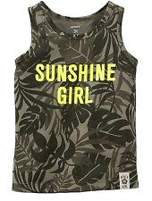 "Carter's Girls' Green Camo ""Sunshine Girl"" Tee (2t) MSRP: $14"