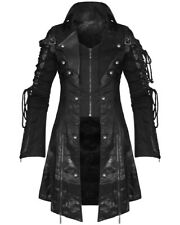 Punk Rave Poison Black Jacket Mens Faux Leather Goth Steampunk Military Coat