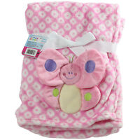 Soft Flannel Fleece Newborn Baby Girl Pink Blanket Crib Pram Moses Basket New