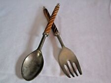 Vintage Rustic Wood Salad Server Set - Use as is or Make Your Own