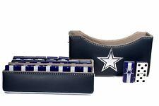 Dallas Cowboys Jumbo Domino Double Six, 5 Coats 100% Acrylic. Faux Leather Case