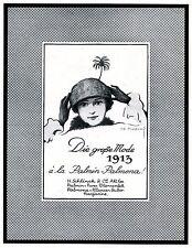 Margarine Palmin & Palmona XL Reklame 1913 von Ivo Puhonny * Baden Baden Palme
