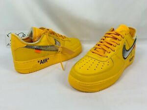 Nike x Off White Air Force 1 Low ICA Lemonade AF1 University Gold size 9