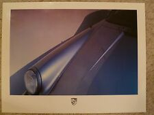 1984 Porsche 911 SC Coupe Showroom Advertising Sales Poster RARE!! Awesome L@@K