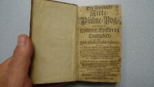 1758 PSALMEBOG Early Danish RARE Religious Christian Prayer KINGO PSALM Book