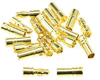 Apex RC Products 3.5mm Male / Female Gold Bullet Connectors Plugs -10 Pair #1102