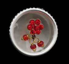 Bindi Blüte Strass Rot Bijoux Haut- Front HT Der Reihe 13mm Engl F 2388