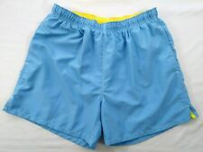 BEACH RAYS Mens Aqua Blue SWIM TRUNKS Size L Lined Shorts Drawstring