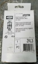 Hubbell Wiring Device-Kellems Afr20Trw Receptacle,Wht,1.0 Hp,3 Wires,2 Poles New