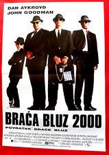 BLUES BROTHERS 2000 DAN AYKROYD JOHN GOODMAN JOHN LANDIS SERBIAN MOVIE POSTER