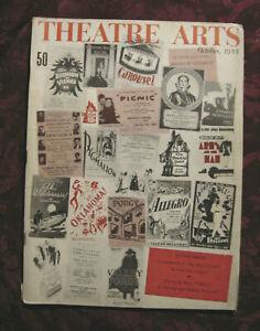 THEATRE ARTS October 1955 PORGY Bess Dubose Dorothy Heyward Lawrence Langner