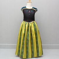 Kids Girls  Anna Coronation Dress Girls Costume Size 2T-10T ZG9