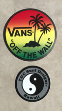 """Town & Country Surf Designs Hawaii T&C Sticker 2"""" Small Authentic Vans Sneakers"""