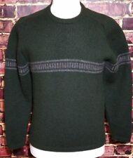 J.Crew ~ Thick Wool Dark Green Sweater ~ Men's Size LARGE Winter Holiday Ski EUC
