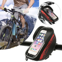 Waterproof Bicycle Bag Phone Case Holder Mountain Bike Frame Front Pannier US