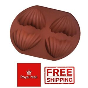 Large Shells Clam Silicone Mould Chocolate Jelly Jellies Ice Wax Melts Scallop