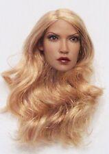 FLIRTY GIRL CUSTOM LIMITED BLONDE CURLY HAIR HEAD SCULPT FOR 1/6 FIGURE
