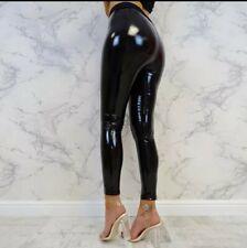 Fashion Women PU Leather Pants Fitness Leggings Womens Strethcy Shiny Sport...