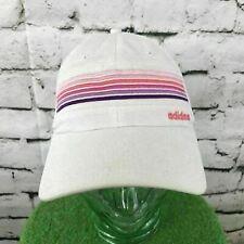 Adidas Womens One Sz Hat Striped Adjustable Meshback Baseball Cap Flaw