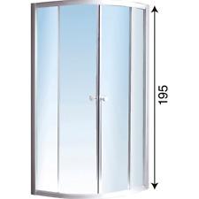 Box doccia semicircolare in cristallo 80x80 profilo bianco altezza 195 cm