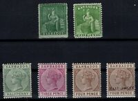 P133365/ BRITISH BARBADOS – 1861 / 1892 UNUSED CLASSIC LOT – CV 160 $