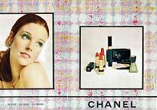 PUBLICITE ADVERTISING 115  1972  les cosmétiques Chanel ( 2p) vernis rouge à lèv