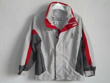 Colubia boys long sleeve grey parkas jacket with hoody size 10  12 years