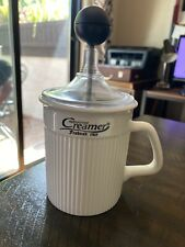 Frabosk Cappuccino Creamer Frother ~ Made in Italy ~ Porcelain Mug ~ New