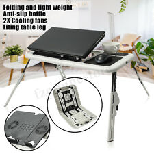 Laptop Lap Desk E-Table Bed Foldable Table With 2 USB Cooling Fans Stand TV