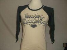 "Harley-Davidson Women's L/S Baseball Style jersey shirt ""scribble"" Medium"