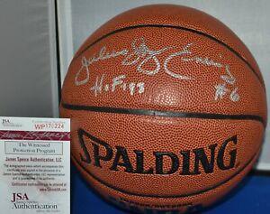 JULIUS DR J ERVING SIGNED SPALDING OFFICIAL FULL SIZE NBA BASKETBALL HOF 93 JSA