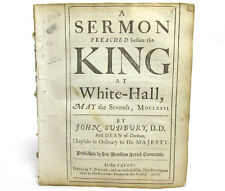 SERMON Preached Before the King at White-hall by JOHN SUDBURY