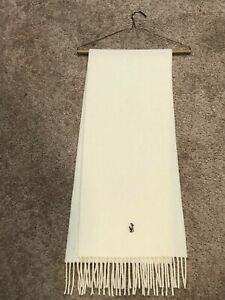 White Lambs Wool Ralph Lauren Scarf