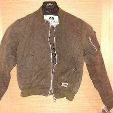 Padded, Waxed Short Ladies Jacket Xs in Olive Green colour excellent condition