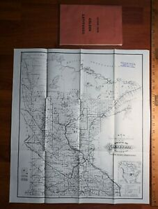 RARE Map & Book Minnesota Dakota Territory 1885 Letters Travel Railroad Illustr