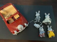 Lot Calico Critters Sylvanian Families Cherry Cruiser Family Car Red Burgandy