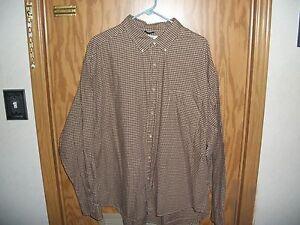 J.Crew Mens 2XL Long Slv Dress Shirt   Brown/Brown