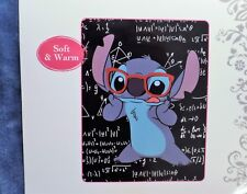 Disney Lilo & Stitch Smart Math Class Chalkboard And Glasses Plush Throw Blanket