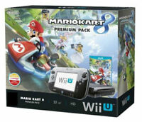 Wii U Boxed Console 32GB Black - Complete Setup - Mario kart 8 Edition