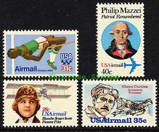 Scott # C97 - C100 1979 - 1980 Airmail commemorative issues Mint NH