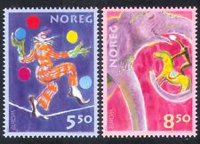 Norway 2002 Europa/Circus/Animated Clown/Horse 2v s1875