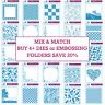 """6x6"""" Embossalicious Universal Detailed Texture Embossing Folder Craft Paper Card"""