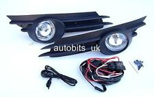 FOG LIGHTS LAMPS GRILLES SET FOR OPEL VAUXHALL CORSA D 07-09 + WIRING KIT